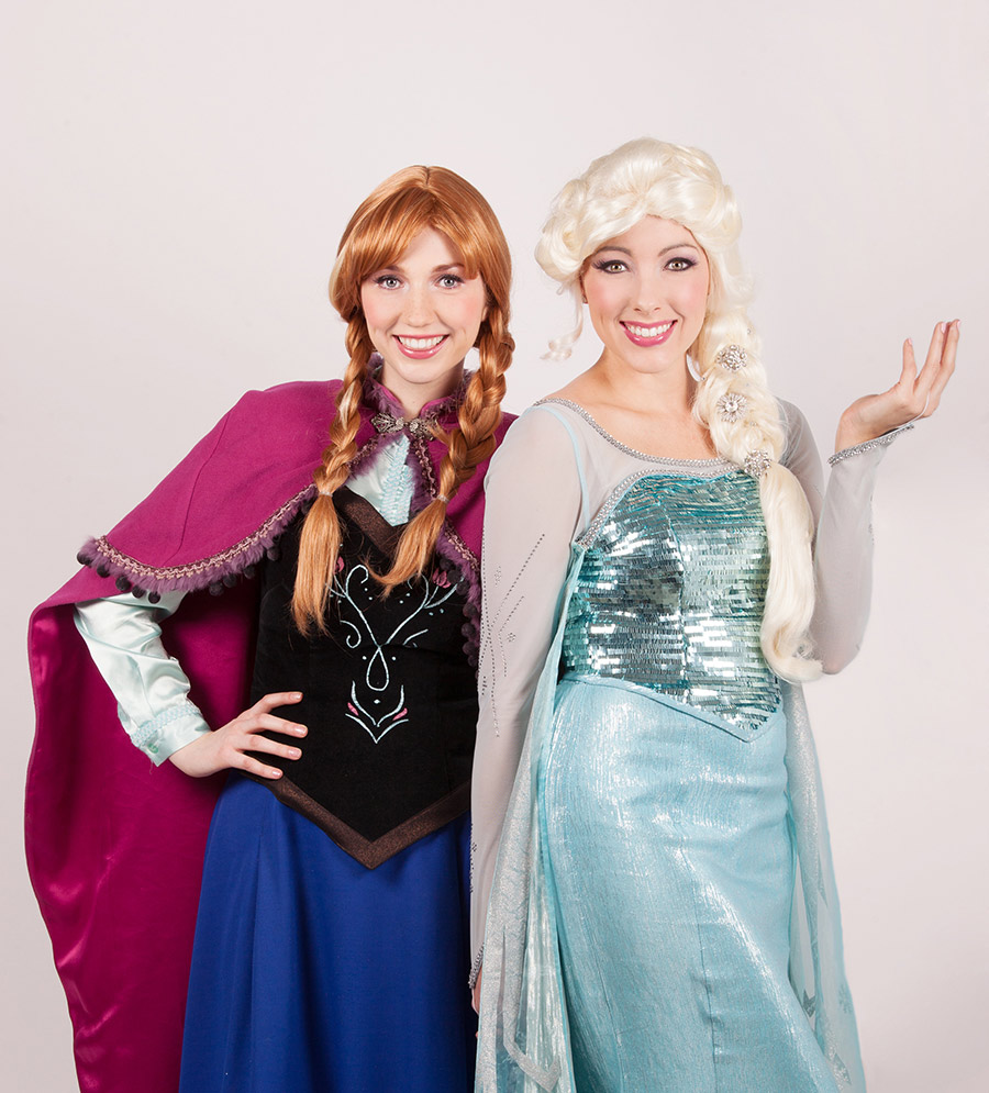 Elsa and Anna Frozen princess parties